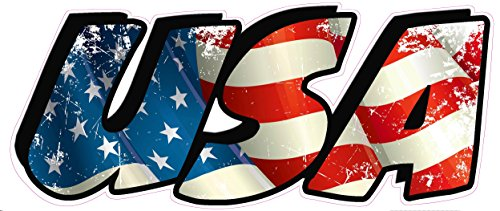 American Flag USA Lettering Small Decal 3