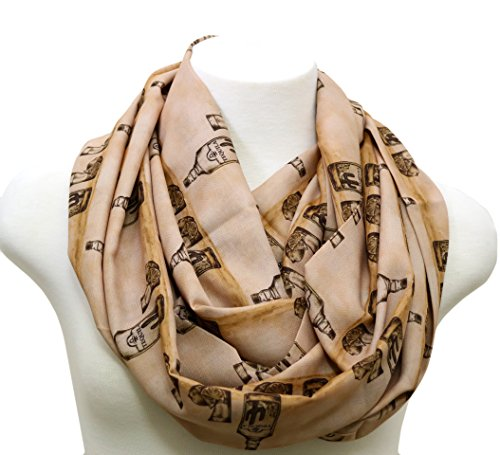 Tequila infinity scarf. Gift for Cinco de Mayo or casual occasions. Tequila gift