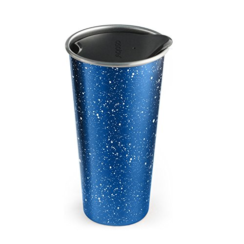 - The Asobu Café Latte Stainless Steel Coffee Take to Go Tumbler 16 ounce (Speckled Blue)