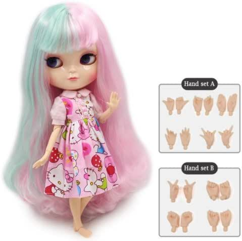 Dream fairy ICY dolls Fortune Days Toys 12 inch nude doll with natural skin and small breast joint body like blythe. (280BL1017/4006, 30cm)