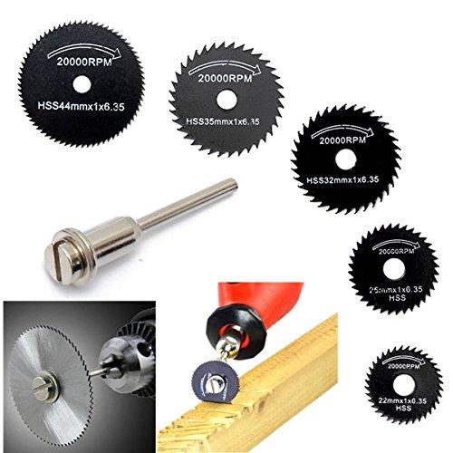 6pcs Metal HSS Circular Saw Blade Set Cutting Discs for Rotary (4 In Corded Circular Saw)