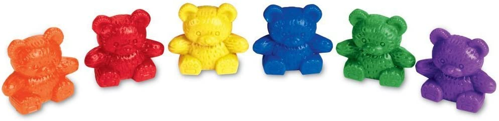 B0006PKZ7W Learning Resources Baby Bear Counters, Color Recognition, Math Skills, 102 Pieces, Assorted Colors, Ages 3+ 518238gVhGL