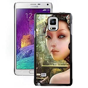 Beautiful And Unique Designed With Girl Robot Cyborg City For Samsung Galaxy Note 4 N910A N910T N910P N910V N910R4 Phone Case