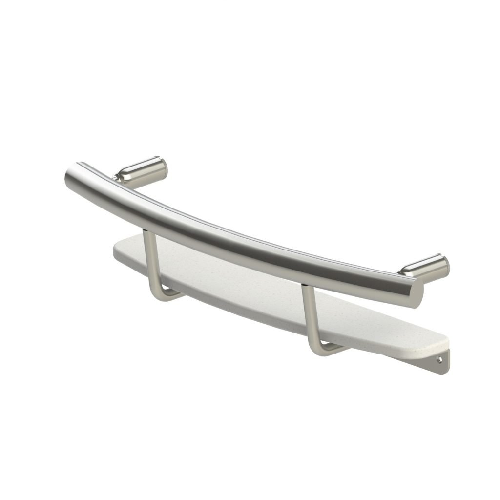 Invisia INV-SHS BS Shampoo Shelf Brushed Stainless Steel by Invisia