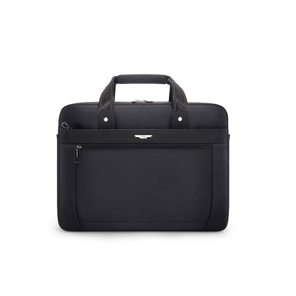QSJY File Cabinets Men's Portable Waterproof Computer Bag 15.6 inch Oxford Cloth Leisure Business Bag 41×30×8CM (Color : Black, Size : 41×30×8CM) by QSJY File Cabinets