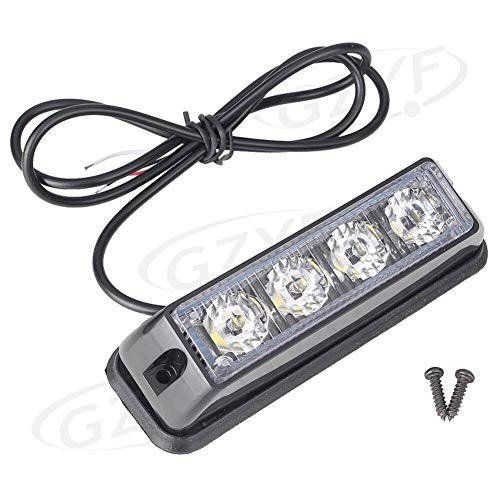 Nathan-Ng - Car Strobe Light Flash Lamp Warning Universal for All Cars SUV White LED 12V