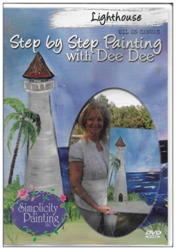 Lighthouse: Step by Step Oil on Canvas Painting with Dee Dee
