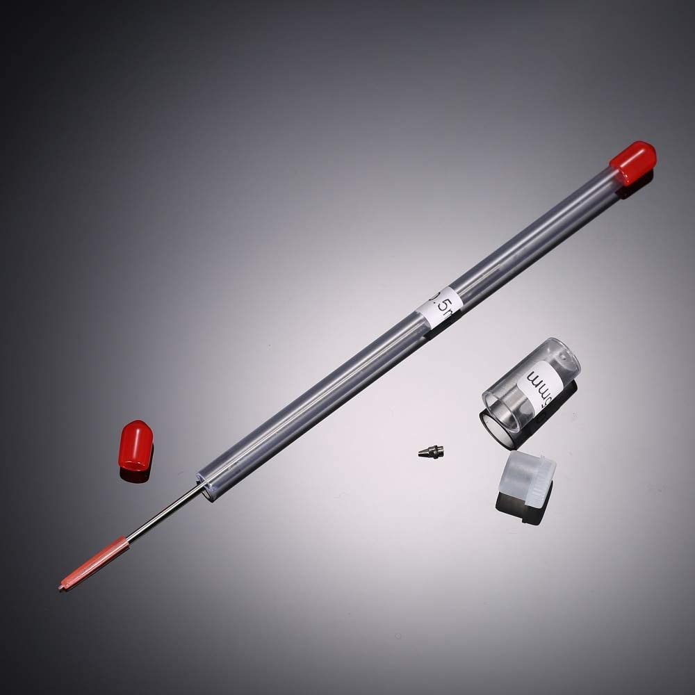 0.2//0.3//0.5mm Airbrush nozzle/&needle replacement spray gun maintenance tool 0U