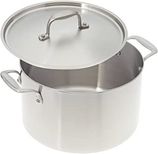 product image for American Kitchen 8-quart Tri-Ply Stainless Steel Stock Pot with Cover