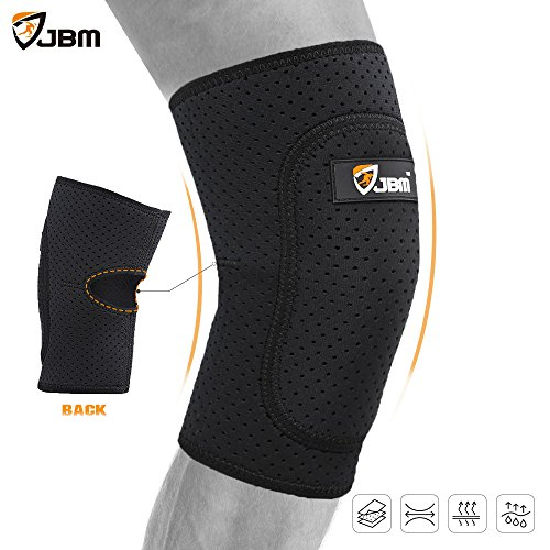 Knee Pads Guard Brace Patella Shin Support Protector Knee Stabilizer Safe Comfortable Elastic Durable Impact Resistance Pain Relief for Basketball Football Soccer (Black - Medium) (Patella Guard)
