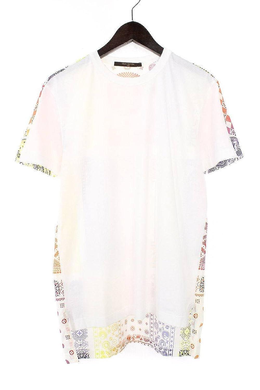 (ルイヴィトン) LOUISVUITTON ×フラグメントデザイン 【17AW】レインボーペイズリーTシャツ(XS/ホワイト×オレンジ調×イエロー) 中古 B07FY9GB1B