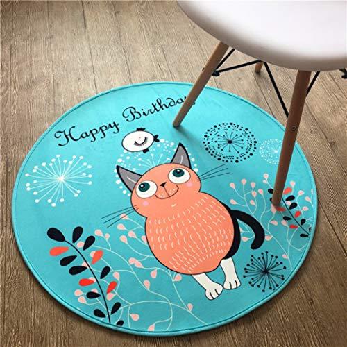 (3D Vinyl Record Printed Round Area Flamingo Pattern Carpet Cartoon Bibulous Doormat for Bedroom Home Decor)