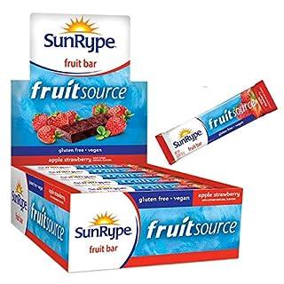 SunRype Fruit Bar, Apple + Strawberry Fruitsource (Case of 25 Bars)