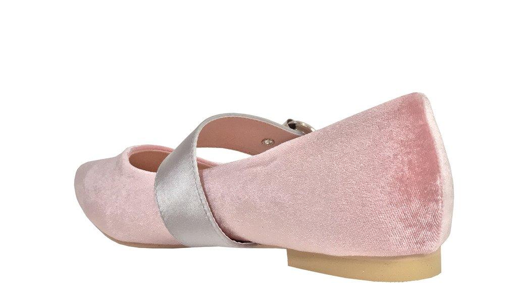 CAPE ROBIN Zadie 2! Cape Robbin Women's Mary Jane Casual Dressy Ballet Flats B06Y1KR3ZS 9 B(M) US Pink Velvet