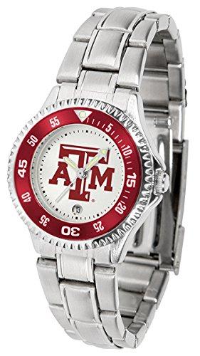 (Linkswalker Ladies Texas A&M Aggies Competitor Ladies Steel Watch)