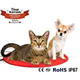 Namsan Warmer Pet Heat Mat - Safety Indoor Cat Dog Pet Bed Waterproof Electric Heating Blanket with UL Cert Adaptor 11.9 * 11.9 inches