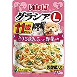 (まとめ買い)いなばペットフード グラシアL 11歳からのとりささみ 5つの野菜入り 280g GL-44 犬用 【×24】