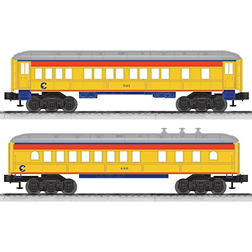 Lionel Chessie System Coach/Diner Baby Madison Passenger Car (2 Pack) Diner Passenger Set