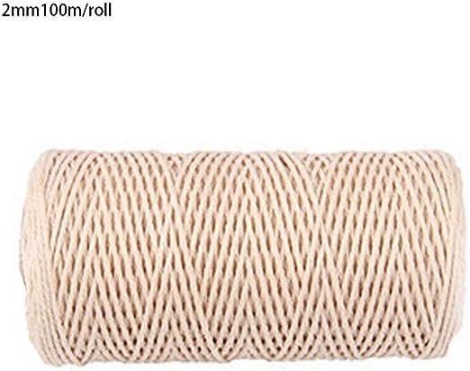 Dough.Q - Cuerda de algodón Natural, Hilo de algodón de macramé ...