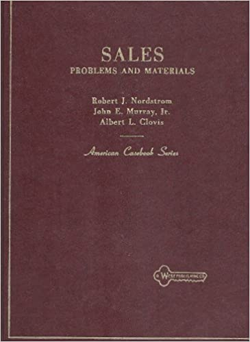 Problems and Materials on Sales (American Casebook Series)