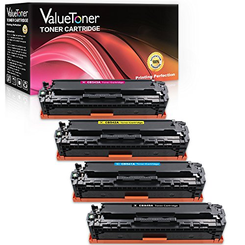 ValueToner compatible Toner Cartridge Replacement for HP 125A 4 Pack (Black, Cyan, Magenta, Yellow) for HP Color LaserJet CP1215 CM1312nfi CP1515n CP1518ni CM1312 MFP Laser Printer (12 Yellow Toner)