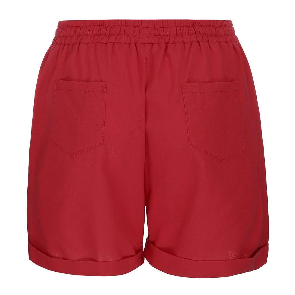 Casual Outdoor Jogging Cotton Linen Sweat Shorts WUAI-Women Workout Lounge Shorts