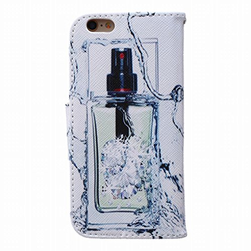 LEMORRY iphone 6 Plus / 6S Plus Flip Etui Housse, [Double Imprimé] Perfume Durable Soft TPU Coque + PU Cuir Portefeuille Cards Stand Magnétique Sangle Flexible Skin Protecteur