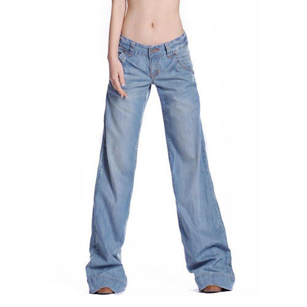 Doris Fashion Women's Casual Pants Horn Wide-legged Jeans YuX788#