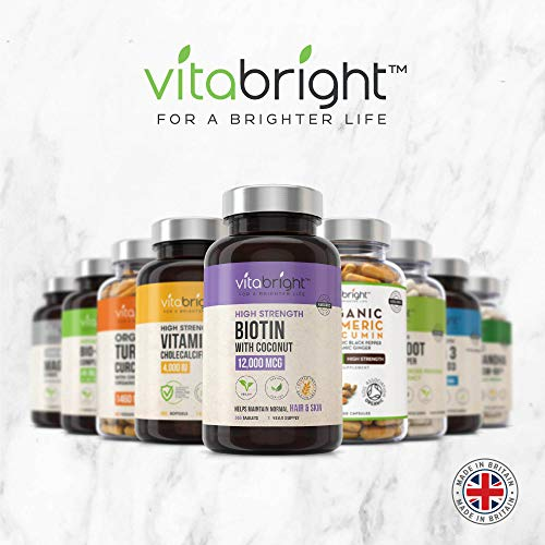 Biotin-Hair-Tablets-12000mcg-High-Strength-1-Year-Supply-Hair-Skin-and-Nails-Vitamins-Vegan-Friendly-Natural-Biotin-Supplement-with-Coconut-Oil-for-Normal-Skin-Hair-Growth-in-Men-Women