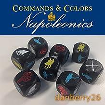 Etched Wood Dice Set for GMT Games Commands & Colors: Napoleonics (CCN)