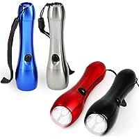 FUSIYU 4 Pcs Linternas Llavero,Linternas Portátiles de Ligero,Color Aleatorio,Mini Antorcha LED para Acampar Favores de…