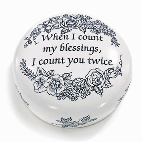 DESK ACCESSORIES - COUNT MY BLESSINGS PAPERWEIGHT - INSPIRATIONAL - Blessing Paper Home