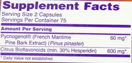 NOW Foods Pycnogenol 30mg, 150 Capsules (Pack of 3)
