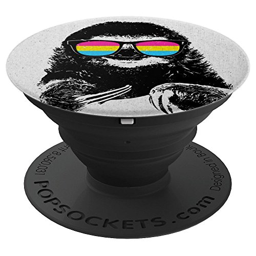 Pride Sloth Pansexual Flag Sunglasses - PopSockets Grip and Stand for Phones and ()