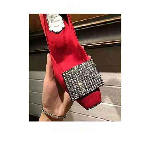 HXVU56546 El Nuevo Presidente Solo Zapatos Zapatos De Tacón Fino Con Taladro De Agua Solo Zapatos Zapatos De Mujer Red