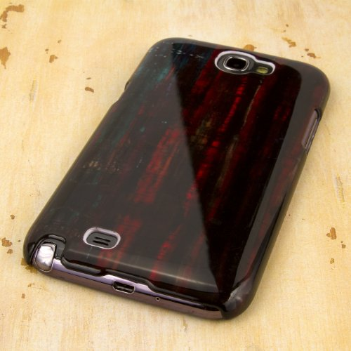 EMPIRE Slim Fit Rustic Wood Brown Case Tasche Hülle for Samsung Galaxy Note 2 II