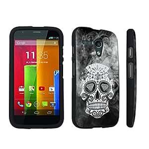 DuroCase ? Motorola Moto G 2013 1st Gen. Hard Case Black - (Smoky Dead Skull)