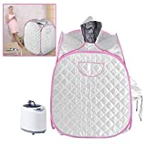 Sauna Steam Tent, 2L Portable Folding Intelligent Remote Control Personal SPA Slimming Salon Home Steamer Suit With Dual Foot Massager Roller and Large Chair