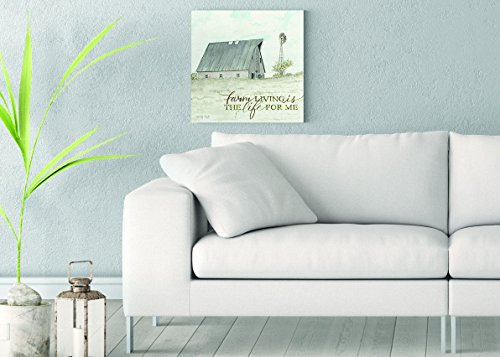 Farm Living Printed on 16x16 Canvas Wall Art by Cindy Jacobs ()
