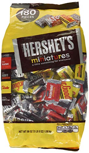 (HERSHEY'S Miniatures Chocolate Candy (HERSHEY'S, KRACKEL, and MR. GOODBAR), Snack Size Assortment, 56 Ounce Bulk Bag)