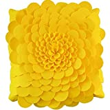 HOMEE Template Room Chairs Pillow Cushion Yellow Sofas Decorated by Package Floating Pane Pillow Kit American Minimalist ,45X45Cm, Soft Pack Blue Rose,Mr Andrew WONG rose,45x45cm
