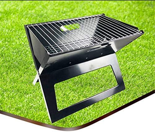 Grill Charbon Portable Pliable Grill Barbecue Pique-Nique De Cuisson Démontable pour BBQ Extérieur Camping (45 * 30 * 35cm)