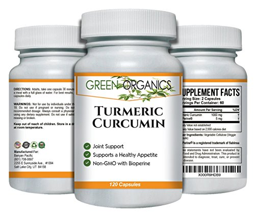 5182AtdNrNL - Turmeric Curcumin to Support Joint Comfort & Mobility – Natural Anti-inflammatory – Helps Soothe Aching Joints, Hips, and Pain Throughout Body – 1000mg – 120 Capsules