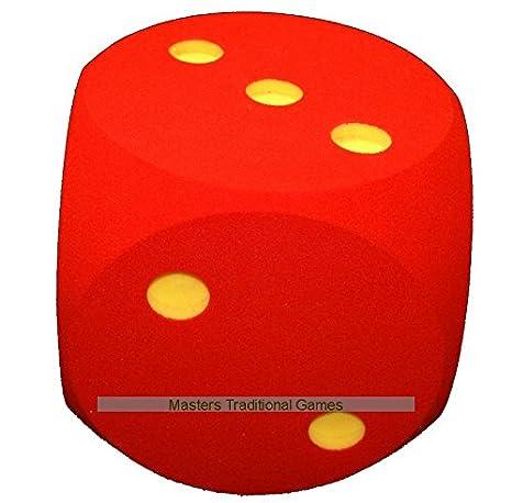 Masters Dado de Espuma Gigante de 30cm - Rojo: Amazon.es: Juguetes y juegos
