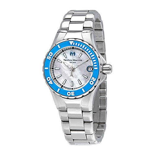 Technomarine Women's 'Manta' Quartz Stainless Steel Casual Watch, Color:Silver-Toned (Model: TM-216007)