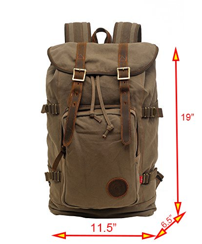 Volyer Large Rucksack Hiking Backpack Army Green