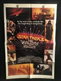 Star Trek 2 The Wrath Of Khan 1982 Original Vintage One Sheet Movie Poster, Sci Fi, William Shatner, Leonard Nimoy