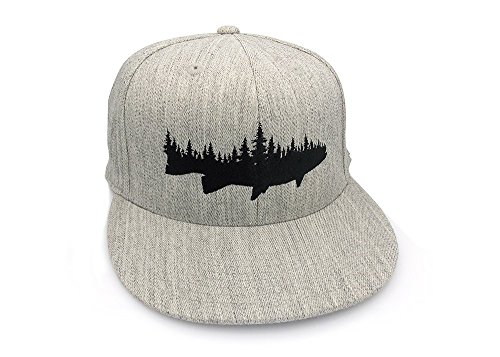 Men's Hat - Fish and Forest - Men's Fitted & Snapback Options Available