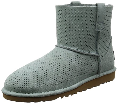 UGG Women's Classic Unlined Mini Perforated Spring Boot, Aloe Vera, 8 B US