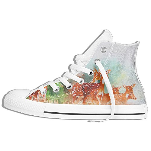 Watercolor Deer Gym Shoes For Men's Cool Shoes (Chicago Halloween Ball 2017)